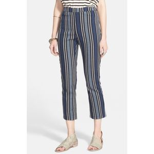 Free people stripped/ straight pant size 6